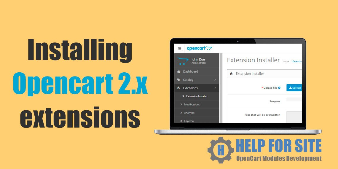Installing Opencart 2.x modules