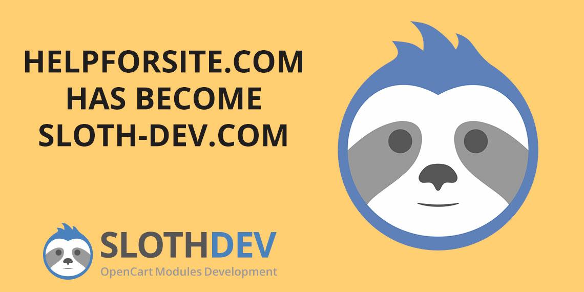 helpforsite.com has become sloth-dev.com