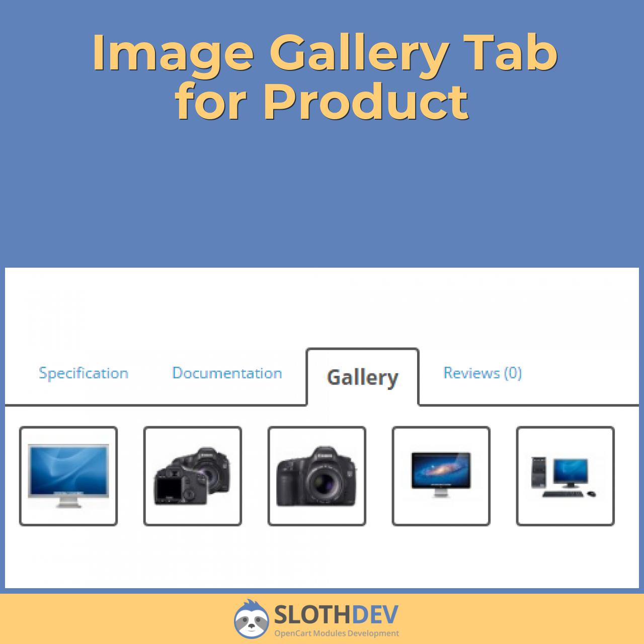 Image Gallery Tab for Product