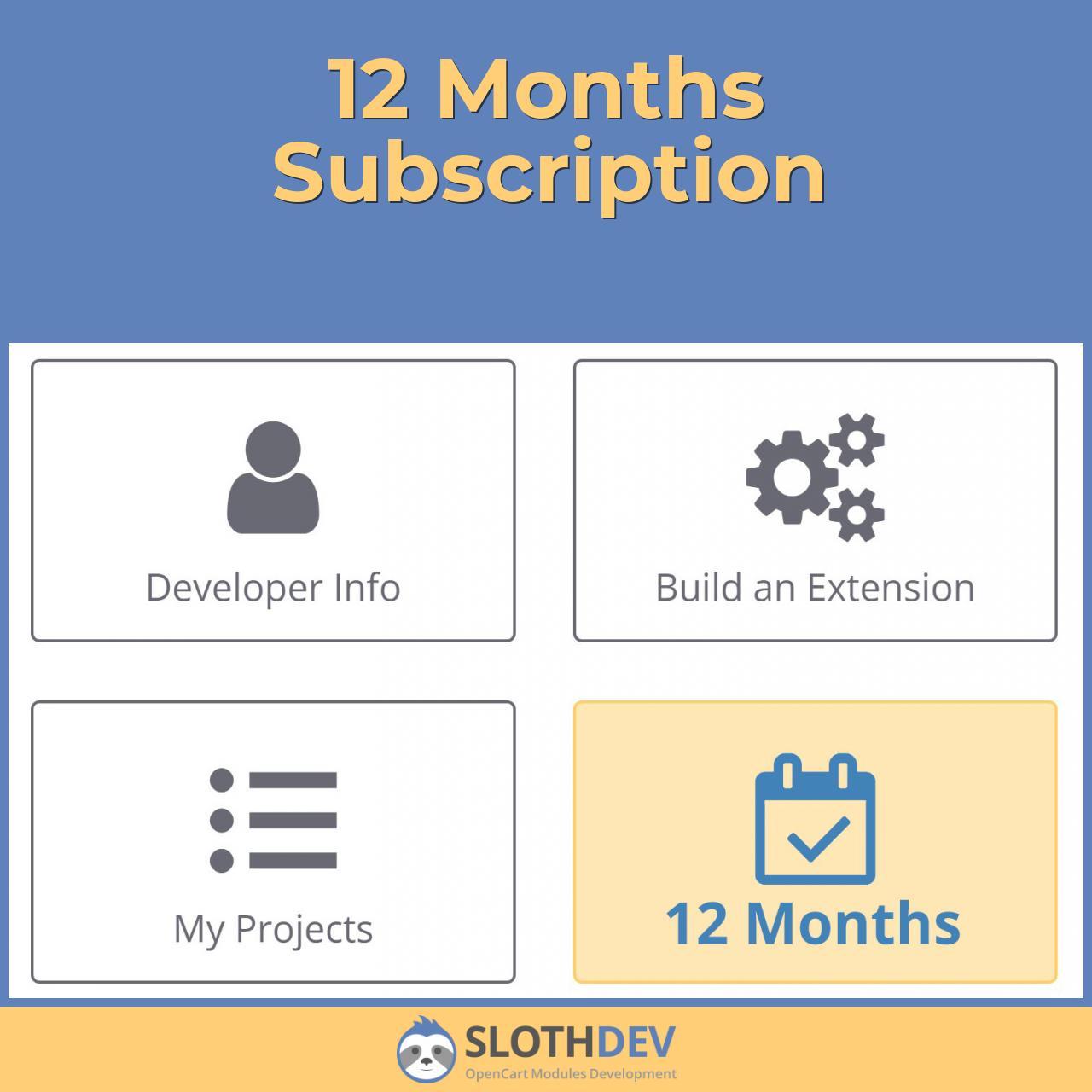 12 Months Subscription