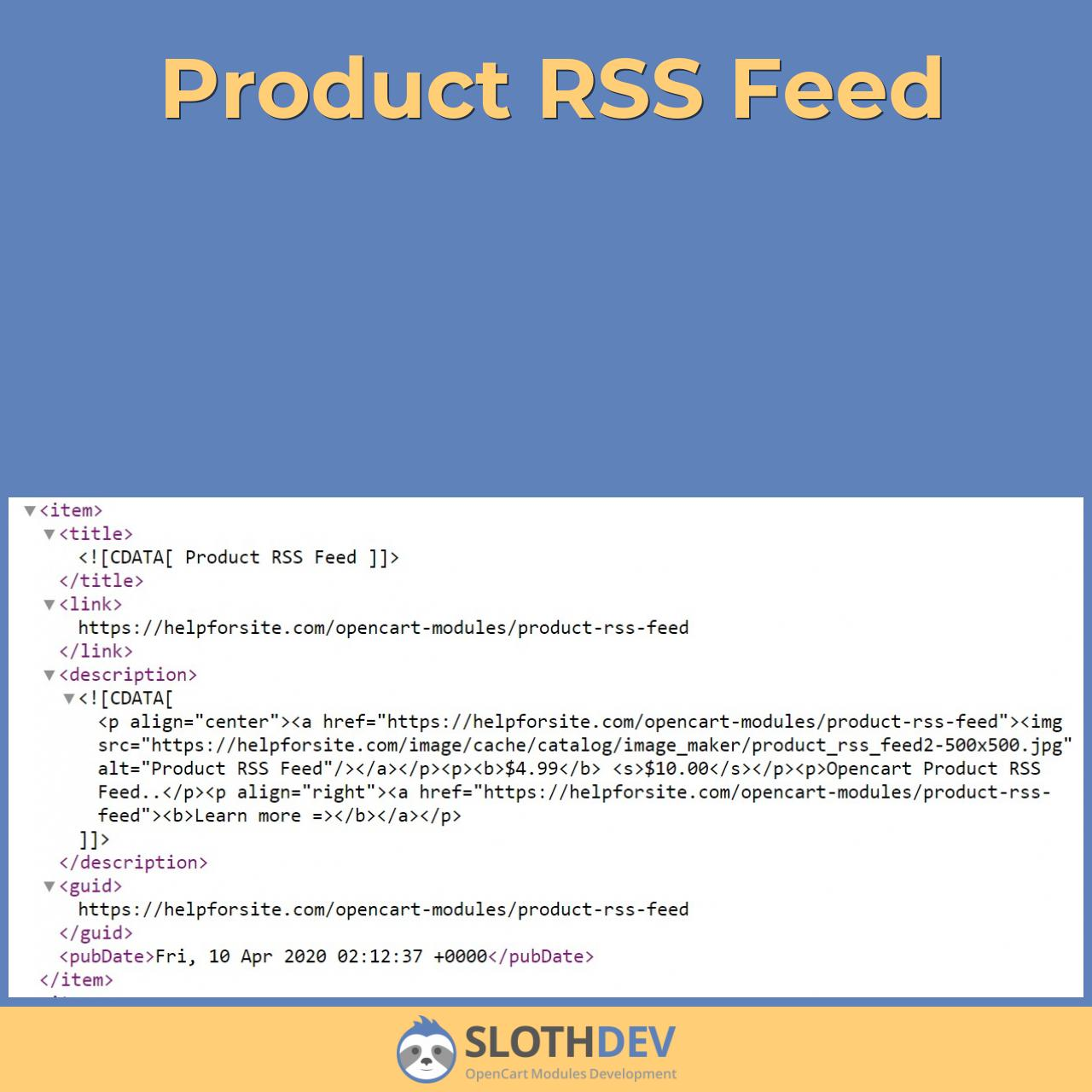 Product RSS Feed