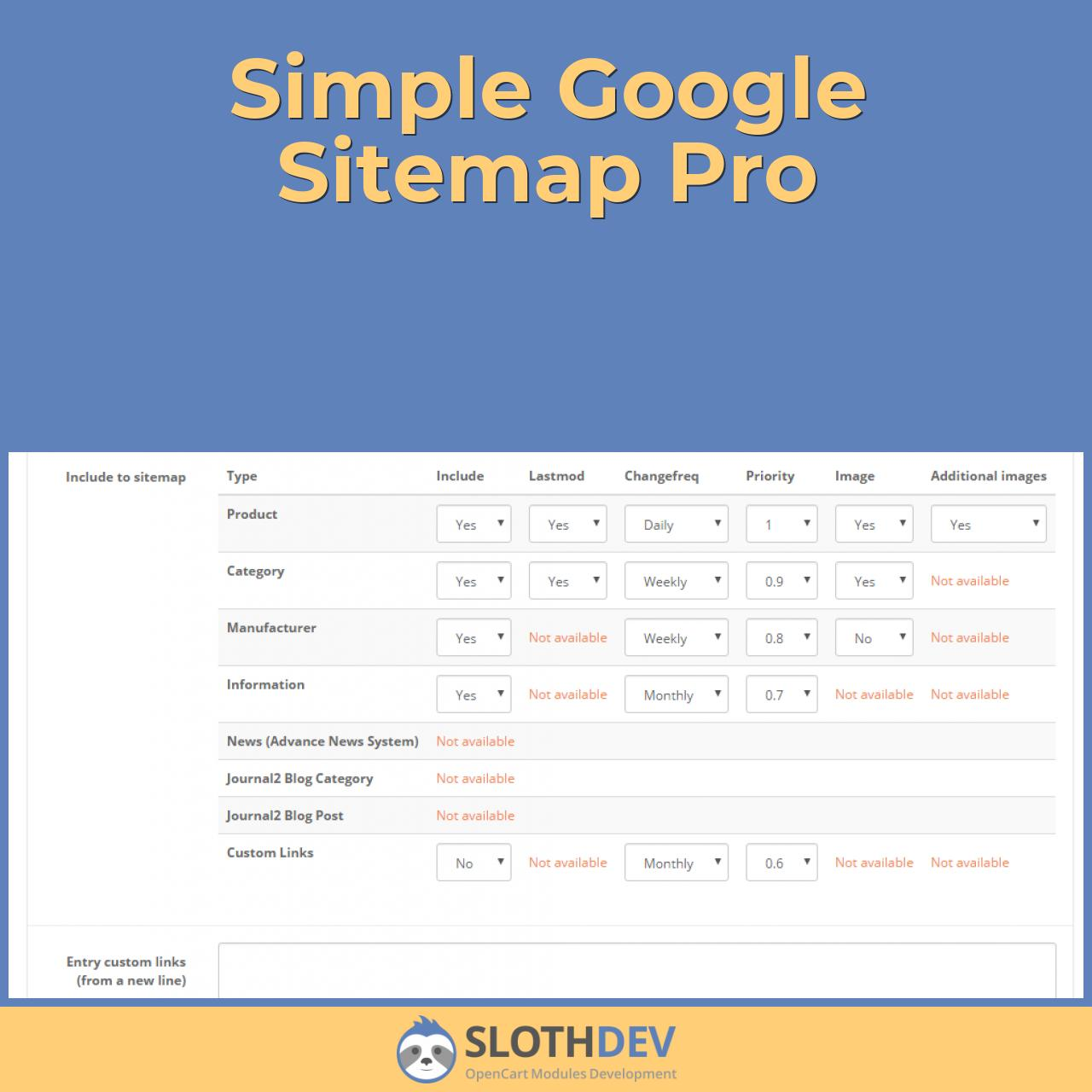 Simple Google Sitemap Pro