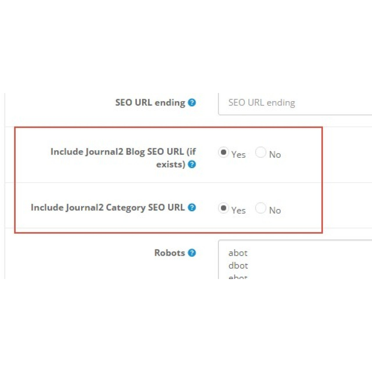 SeoPro Fix for Journal2 Blog
