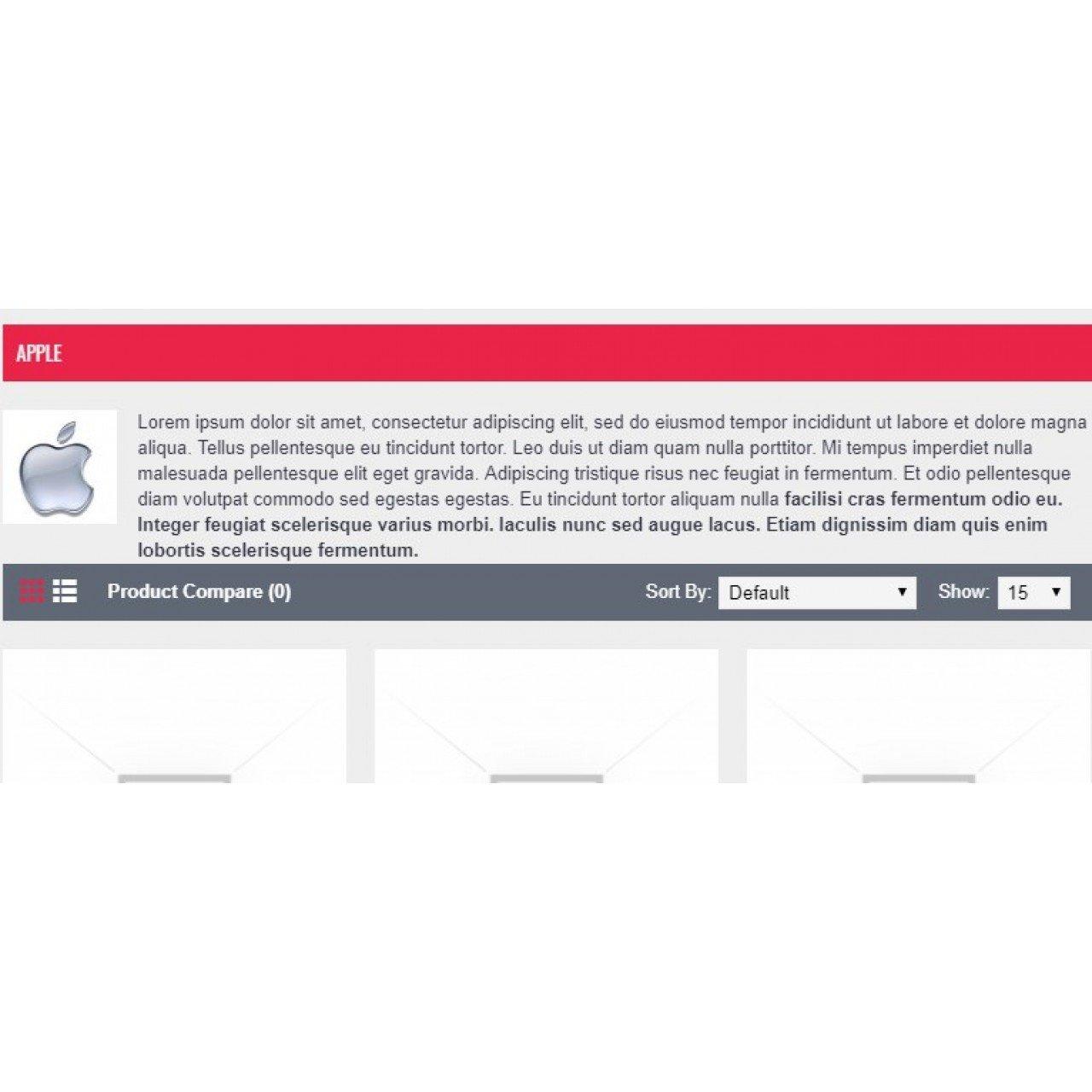 Manufacturer Description Opencart3